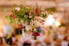 Mooie de lijstdecoratie van de huwelijksontvangst Royalty-vrije Stock Afbeelding