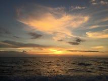 Mooie de meningsvakantie Koh Tao Thailand van het zonsondergangstrand Stock Fotografie