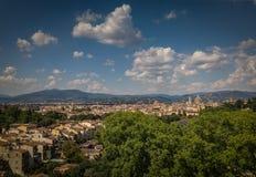 Mooie de stadshorizon van Florence met Florence Duomo stock fotografie
