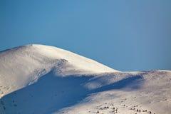 Mooie de winter panoramische luchtmening van alpen Royalty-vrije Stock Foto's