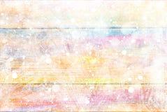 Mooie de winterachtergrond Sneeuwvlokken en vorst op een gekleurde achtergrond Royalty-vrije Stock Afbeelding