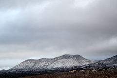 Mooie de winterdag in de sneeuw behandelde bergen in Tucson Arizona royalty-vrije stock fotografie