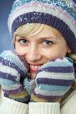 Mooie de wintervrouw stock afbeeldingen