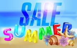 Mooie de zomerverkoop van de waterspiegelillustratie Royalty-vrije Stock Fotografie