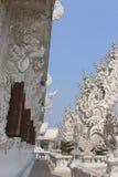 Mooie Decoratie bij Rongkhun-Tempel (Witte Tempel), beroemd Stock Afbeeldingen
