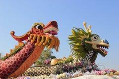 Mooie Decoratie van Vlotters in Postparade van Toernooien van R Stock Afbeelding