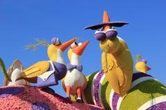 Mooie Decoratie van Vlotters in Postparade van Toernooien van R Stock Foto's