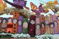 Mooie Decoratie van Vlotters in Postparade van Toernooien van R Royalty-vrije Stock Afbeeldingen
