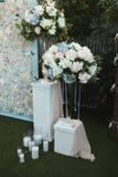Mooie decoratie voor huwelijksbanket en ceremonie royalty-vrije stock afbeelding