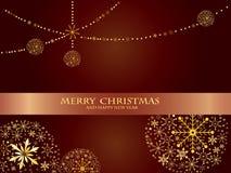 Mooie decoratieve glanzende Kerstmisballen Royalty-vrije Stock Fotografie