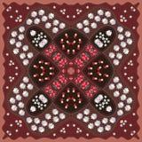 Mooie deken in Russische stijl met boleet, madeliefje, duizendblad en madeliefje vector illustratie