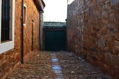 Mooie Deur van een Maragata-Huis die in de XVI Eeuw dateren Castrillo DE los Polvazares Architectuur, Geschiedenis, Camino DE San royalty-vrije stock fotografie