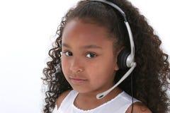 Mooie Dichte Omhooggaand van het Meisje van Zes Éénjarigen over Wit royalty-vrije stock foto's