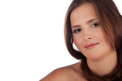 Mooie dichte omhooggaand van het vrouwengezicht Stock Fotografie