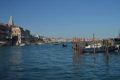 Mooie die Gondels op Grand Canal in Venetië worden vastgelegd Reis, Vakantie, Architectuur 28 maart, 2015 Venetië, Veneto gebied, stock fotografie