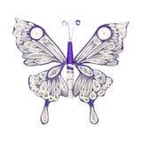 Mooie die vlinder in het quilling van techniek wordt gemaakt Hand - gemaakt document art. royalty-vrije stock foto