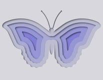 Mooie die vlinder van document wordt gesneden Stock Afbeelding