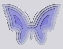 Mooie die vlinder van document wordt gesneden Stock Foto's