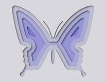 Mooie die vlinder van document wordt gesneden Stock Foto