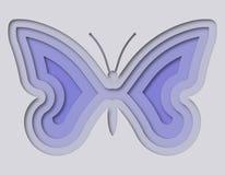 Mooie die vlinder van document wordt gesneden Royalty-vrije Stock Foto's