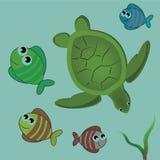 Mooie dieren van het overzees Royalty-vrije Illustratie