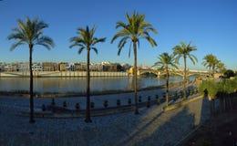Mooie dijk in Sevilla royalty-vrije stock foto's