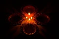 Mooie Diwali Candels Royalty-vrije Stock Afbeeldingen