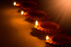 Mooie Diwali Candels Stock Fotografie