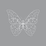 Mooie document vlinder met bloemenpatroon stock illustratie