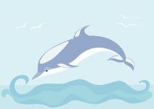 Mooie dolfijn Stock Afbeeldingen