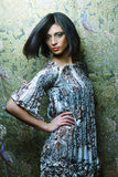 Mooie donkerbruine vrouw Royalty-vrije Stock Foto
