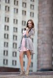 Mooie donkerbruine vrouw Stock Fotografie