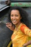 Mooie donkere vrouw Stock Fotografie