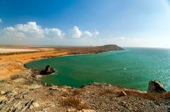 Oceaan Landschap in La Guajira Royalty-vrije Stock Afbeelding
