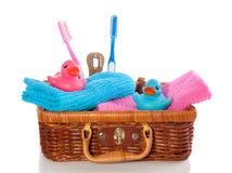Mooie eenden en tandenborstels Stock Afbeelding