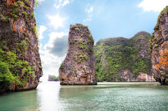 Mooie eilanden bij oceaan Stock Afbeeldingen