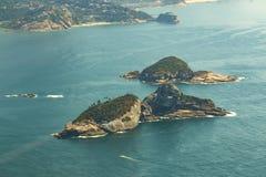 Mooie eilanden, Cagarras-Eilanden Rio de Janeiro Brazil royalty-vrije stock afbeeldingen