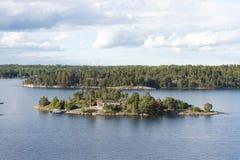Mooie eilanden op Oostzee Stock Foto's