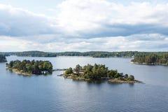 Mooie eilanden op Oostzee Stock Afbeeldingen