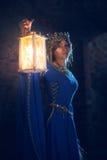 Mooie Eleanor van Aquitaine, hertogin en koningin van Engeland en Frankrijk op Hoge Middeleeuwen stock fotografie