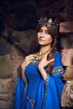 Mooie Eleanor van Aquitaine, hertogin en koningin van Engeland en Frankrijk op Hoge Middeleeuwen royalty-vrije stock foto