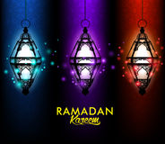 Mooie Elegante Ramadan Kareem Lantern of Fanous Stock Foto