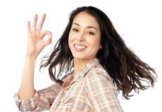 Mooie en gelukkige jonge vrouw Stock Fotografie