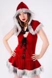 Mooie en sexy Kerstmisvrouw royalty-vrije stock foto's