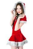 Mooie en sexy Kerstmisvrouw stock foto