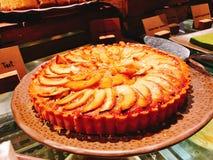 Mooie en yummy appel scherp in buffet van het hotel royalty-vrije stock fotografie