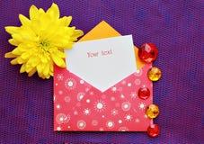 Mooie envelop Stock Foto