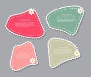 Mooie Etiketten met Bloem Vectorillustratie Royalty-vrije Stock Afbeelding