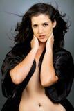 Mooie etnische donkerbruine vrouw royalty-vrije stock foto's