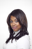 Mooie etnische vrouw die col draagt Royalty-vrije Stock Foto